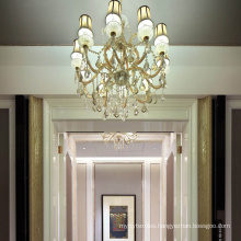 Chinese Customized Luxury lamps Modern Foyer Dinning Room Crystal Hotel Chandelier