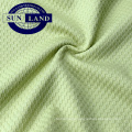 100 polyester dry fit  jacquard check fabric for T shirts or polo