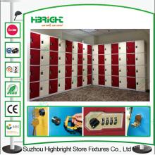 Armário de plástico ABS de 15 portas para funcionários da empresa