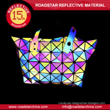 High light reflective rainbow color bag for ladies