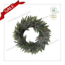 A Primavera Real Touch Christmas Artificial Wreath Flor Artificial para o Natal H30-H48cm