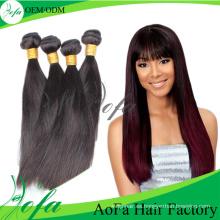 Pelo de calidad superior de las mujeres del pelo, pelo de Remy, trama brasileña del pelo