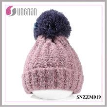 2015 Hiver Épaississement Laine Ball Bonnet Simple Chapeau Unisexe Chapeau Chaud