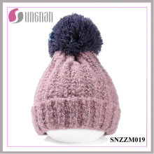 2015 Winter Thickening Wool Ball Simple Knitted Cap Unisex Warm Hat