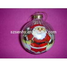 Boule en verre de noël à la main faite à la main