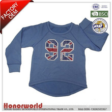 BSCI approved factory 65% polyester 35% cotton boys pullover sweater / boys pullover with foil print