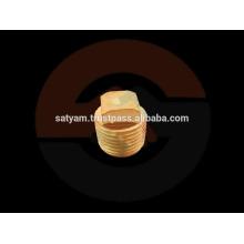 Tapón cuadrado de cobre amarillo