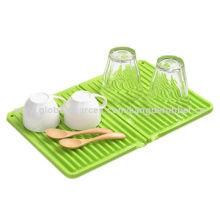 Foldable silicone leachate mat