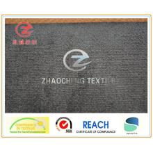 Terciopelo 28W N / P adherido con tela gris T / C (ZCCF017)