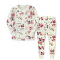 Top Fashion Cute Cartoon Printed Style Children Two-Piece Sleepwear Pajamas