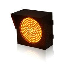 8 inch yellow solar led traffic warning light