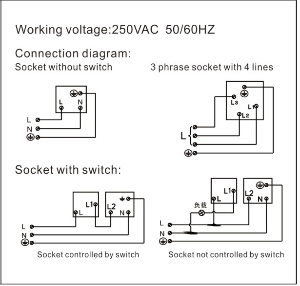 5 Pin Switched Socket