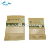 Bolso de encargo de alta calidad de la hoja del papel de Kraft de la alta calidad para el embalaje de la máscara