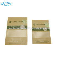 High Quality Wholesale Custom Small kraft paper foil bag for mask packaging