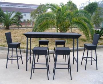 Utomhus Bar på uteplatsen rotting möbler set - se.bossgoo.com