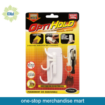 mulit function white plastic hook