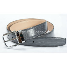 Man's 3.5cm black col formal PU belt