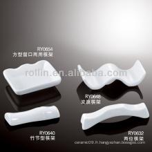 Chopstick de porcelaine blanc durable et sain