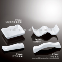 healthy durable white porcelain chopstickrest