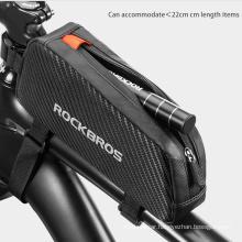 Mountain Bike Black Bag Bicycle Accessories Bicycle Front Tube Rack Front Pocket Waterproof Bicycle Bag Large Capacity 039bk