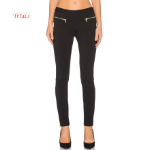 Zipper Front Pockets N Zipper Leg Opening Sexy Legging