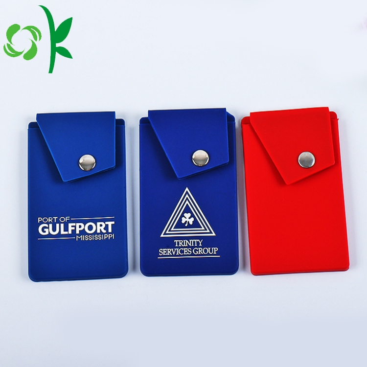 silicone cell phone card holder