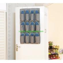 Sobre a porta organizador 12 grandes bolsos para banheiro / cozinha / quarto / sala de estar / despensa