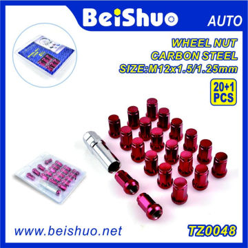 Open End Aluminum Extended Tuner Wheel Lug Nuts Set