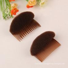 Коричневый темный бант для волос с гребнями (HEAD-26)