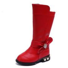 Wholesale 2018 rhinestone bowknot girls beautiful boots children warm casual shoes