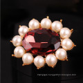 Jingling beautiful glass and pearl pins for wedding