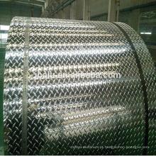 2018 China estuque bobina de alumínio em relevo para antiderrapante