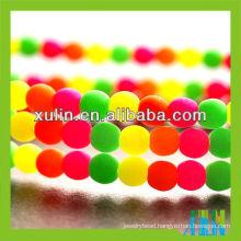 10mm bright neon colourful round acrylic bead FA006