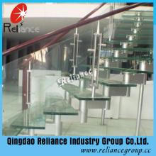 12mm transparentes Glas für Treppen / Gebäude