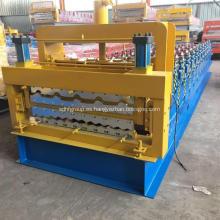 Techo corrugado de doble cubierta que forma la máquina