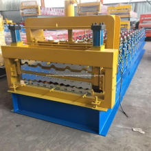Double deck corrugated sheet roof forming machine
