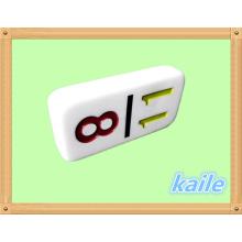 Numéro de thème coloré en plastique domino