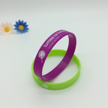 Customized Printing Logo 1/2 Inch Silicone Wristband