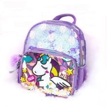 2021 New Cute Kids Baby Girls Mini Backpack School bag Mermaid Reversible Sequins Backpack