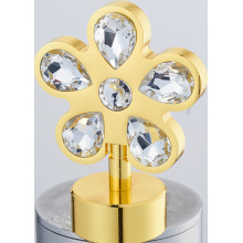 Cortina do Metal Rod Finial flor com cristal