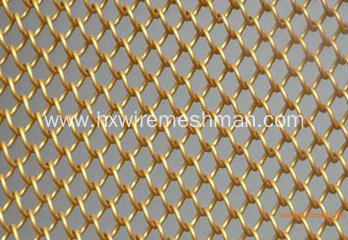 Round Wire Helix Woven Mesh for Curtain Wall