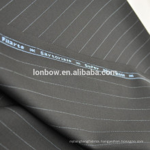 Black 100% merino wool pinstripe suit fabric china online store