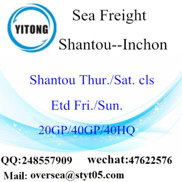 Transporte marítimo de Shantou Port Sea To To Inchon