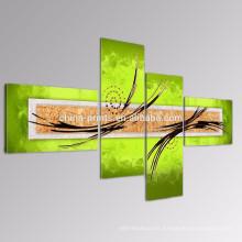 Arte hecho a mano moderno de la pintura / pintura al óleo abstracta verde / arte casero de la lona de la decoración