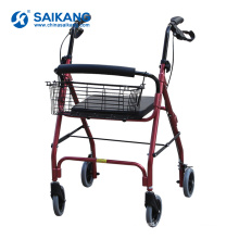 SKE220 Lightweight Aluminum Alloy Rollator Walker With Seat
