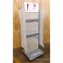 Vestuário Shop Fitting Garment Store Loja de Móveis Fixture Metal Free Standing Clothes Display Unit