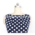 OEM Dress Short Sleeve Women Polka Dot Dress Polyester Printed Fashion Women Dress