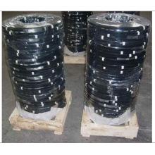 Tira de aço da embalagem da força de alta elasticidade, colocação de correias de aço da embalagem