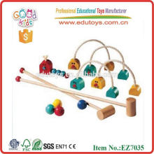 2014 new wooden gate ball for kids,popular gate ball game ,hot sale wooden gate ball
