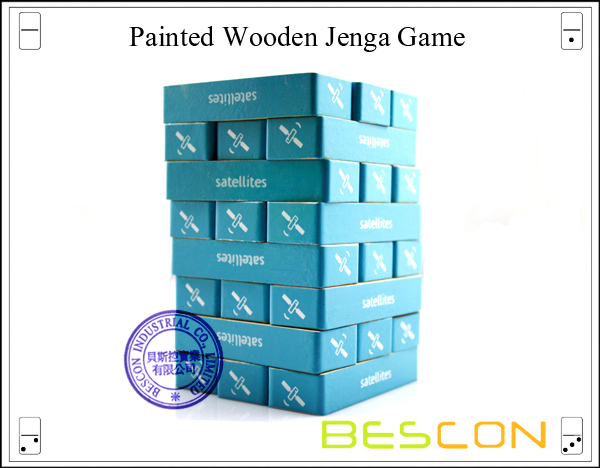 Painted Wooden Jenga Game